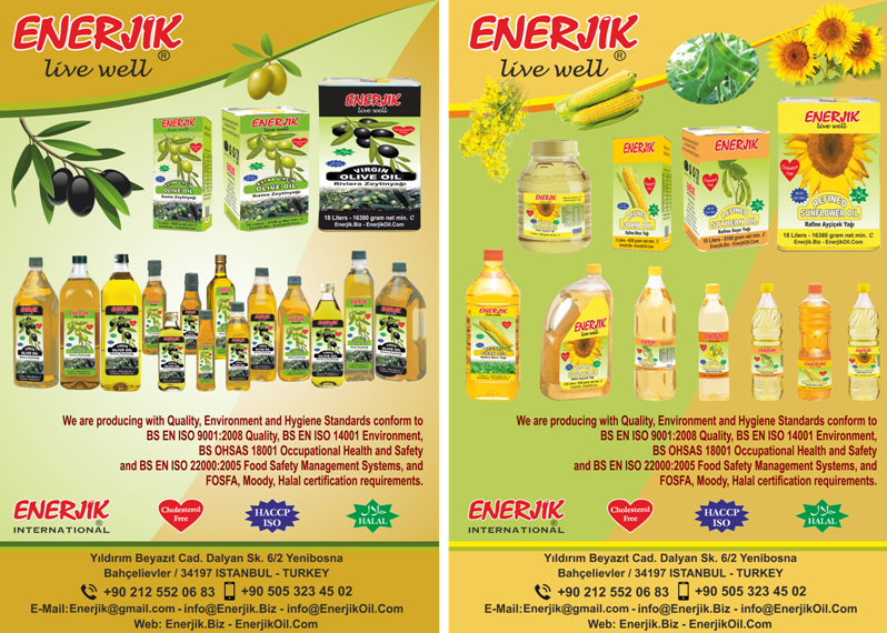 Enerjik's Edible Oil Export Products